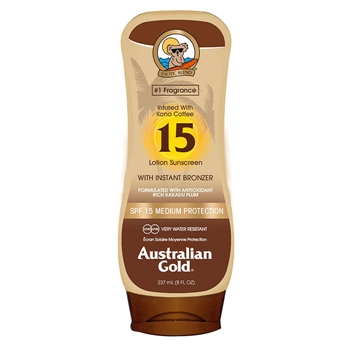 Australian Gold Lotion Sunscreen with Instant Bronzer SPF15 237 ml