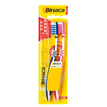 Binaca Cepillo Dental Medio 2 Unidades x 1