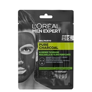Pure Power Charcoal Mascarilla Tejido Purificante de L'Oréal Men Expert