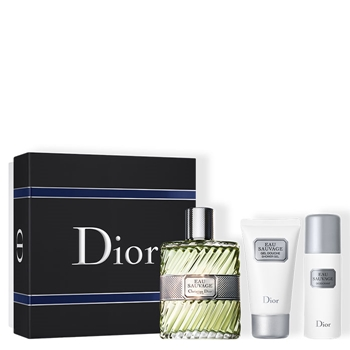 Dior EAU SAUVAGE Estuche 100 ml Vaporizador + Gel de Baño 50 ml + Desodorante en Spray 50 ml