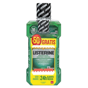 Listerine Dientes y Encías Enjuague Bucal 500 ml + 250 ml