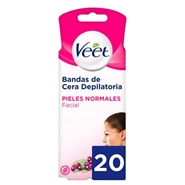 Bandas Faciales de Cera Depilatoria Piel Normal de Veet