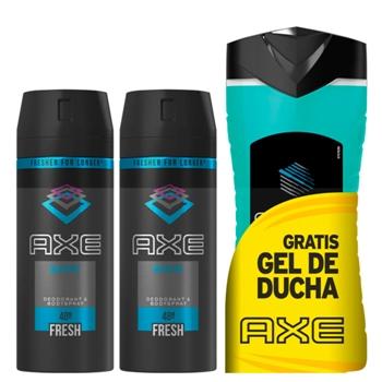 AXE MARINE Desodorante Body Spray 2 x 150 ml + Gel de Ducha Ice Chill 250 ml