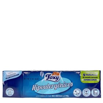 Foxy Pañuelos Hipoalergénicos 9 x 10 Unidades