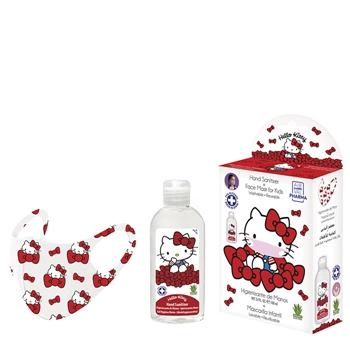 Hello Kitty Higienizante de Manos Estuche 100 ml + Mascarilla Infantil