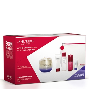 Shiseido Vital Perfection Uplifting and Firming Cream Estuche 50 ml + 4 Productos + Neceser