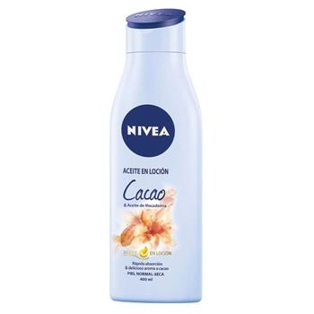 NIVEA Aceite en Loción Cacao & Aceite de Macadamia 400 ml