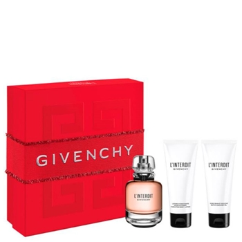 Givenchy L'INTERDIT Estuche 80 ml Vaporizador + Loción Corporal 75 ml + Gel de Ducha 75 ml
