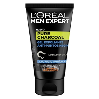 Pure Power Charcoal Gel Exfoliante Anti-Puntos Negros de L'Oréal Men Expert