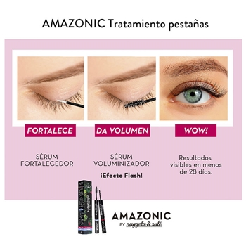 Amazonic Pestañas Sérum Fortalecedor + Voluminizador de Nuggela & Sulé