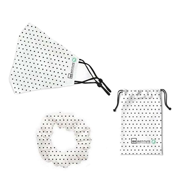 Mascarilla Facial Protectora Blanca Lunares de IDC INSTITUTE