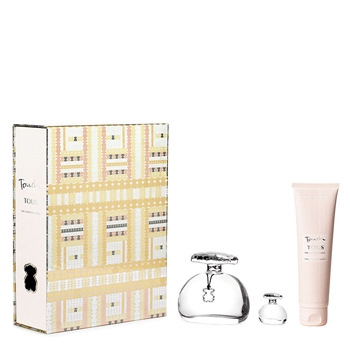 TOUS TOUCH THE LUMINOUS GOLD Estuche 100 ml Vaporizador + Body Lotion 150 ml + Miniatura 4,5 ml