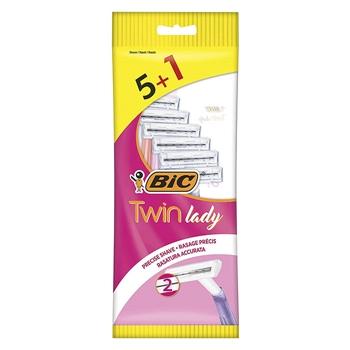 Bic Maquinillas Twin Lady 5 + 1 Unidades