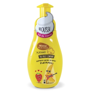 The Fruit Company Jabón de Manos Mousse Plátano 250 ml