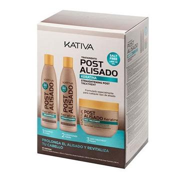 KATIVA Tratamiento Post Alisado Keratina Champú + Acondicionador + Mascarilla