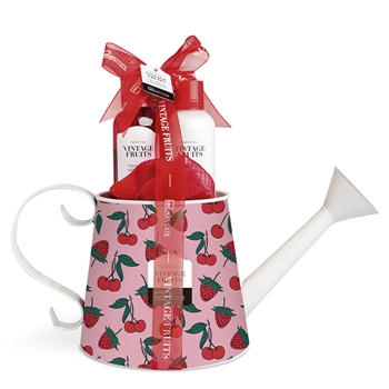 IDC INSTITUTE Vintage Fruits Watering Can Estuche 4 Productos