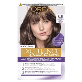 L'Oréal Excellence Cool Creme 6.11 Rubio Oscuro Ceniza Intenso