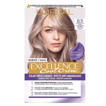 L'Oréal Excellence Cool Creme 8.11 Rubio Claro Ceniza Intenso