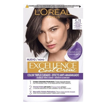 L'Oréal Excellence Cool Creme 5.11 Castaño Claro Ceniza Intenso