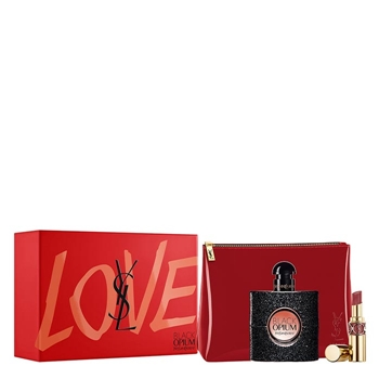 Yves Saint Laurent BLACK OPIUM Estuche 50 ml Vaporizador + Mini Rouge Volupté Shine + Neceser