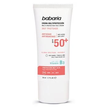 Crema Facial Multiprotección Invisible SPF50+ de Babaria