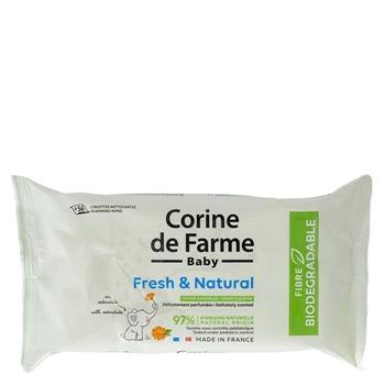 Toallitas Fresh & Natural Biodegradables de Corine de Farme