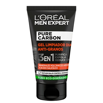 Pure Carbon Gel Limpiador Día Anti-Granos de L'Oréal Men Expert
