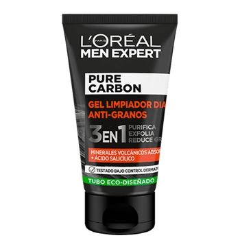 L'Oréal Men Expert Pure Carbon Gel Limpiador Día Anti-Granos 100 ml