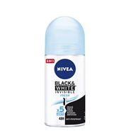Invisible Black & White Fresh Desodorante Roll-on de NIVEA