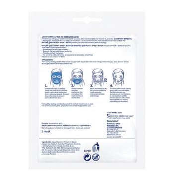Q10 Plus C Mascarilla de Tejido Anti-Arrugas + Energizante de NIVEA