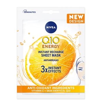 NIVEA Q10 Plus C Mascarilla de Tejido Anti-Arrugas + Energizante 1 Unidad