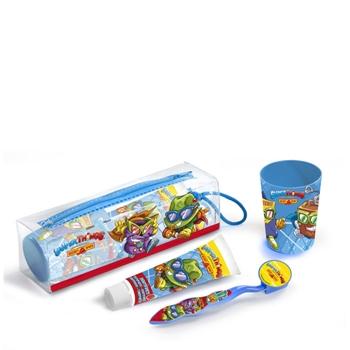 Superzings Cepillo de Dientes Estuche 1 Unidad + Dentídrico 75 ml + Vaso + Neceser