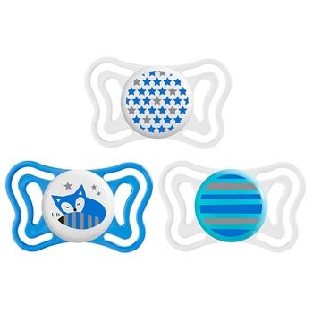 Chupete Physio Light Silicona Azul 6-16 Meses de CHICCO