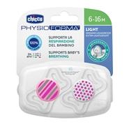 Chupete Physio Light Silicona Rosa 6-16 Meses de CHICCO
