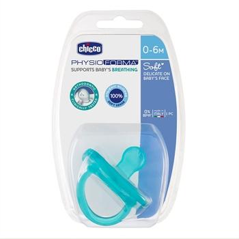 Chicco Chupete Physio Soft Azul 0-6 Meses 1 Unidad