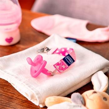 Chupete Physio Soft Rosa 0-6 Meses de CHICCO