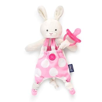 Chicco Guarda Chupetes Pocket Friend Rosa 0 Meses+ 1 Unidad