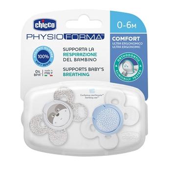 Chupete Physio Comfort Silicona Azul 0-6 Meses de CHICCO