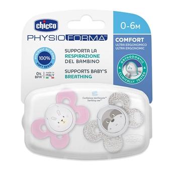 Chupete Physio Comfort Silicona Rosa 0-6 Meses de CHICCO