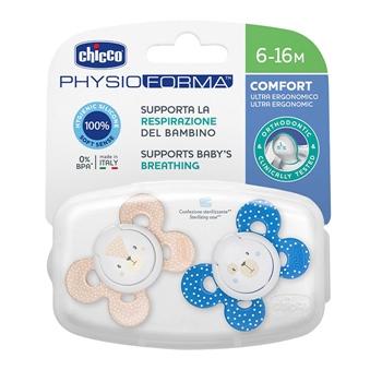 Chupete Physio Comfort Silicona Azul 6-16 Meses de CHICCO