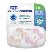 Chupete Physio Comfort Silicona Rosa 6-16 Meses de CHICCO