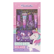 Unicorn Dreams Makeup & Case Estuche de Martinelia