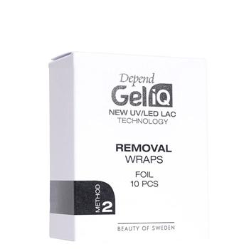 Depend Gel iQ Removal Wraps Foil 10 Unidades