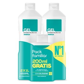 Inibsa Gel Dermatológico Pack 1000 ml + 1000 ml + 200 ml