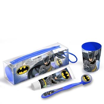 Batman Kit Higiene Dental Estuche Dentífrico 75 ml + Cecpillo Dental + Vaso + Neceser